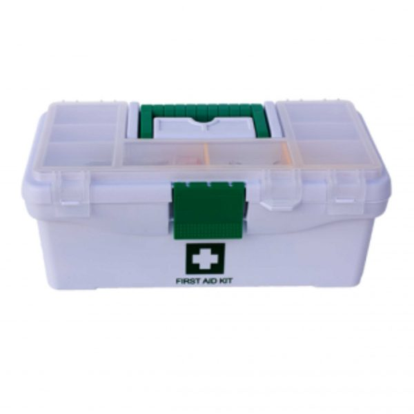 FIRST AID KIT – OFFICE/SHOP PLASTIC SUITCASE – FILLED