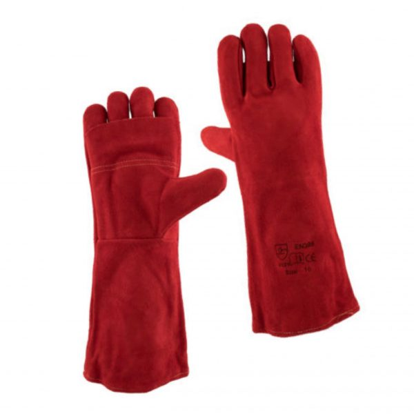 RED HEAT RESISTANT GLOVES – ELBOW LENGTH