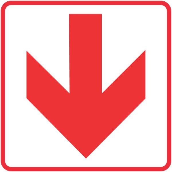 FIRE SAFETY SIGNS – RED ARROWS – LOCATION OF FIRE FIGHTING EQUIPMENT SIGN